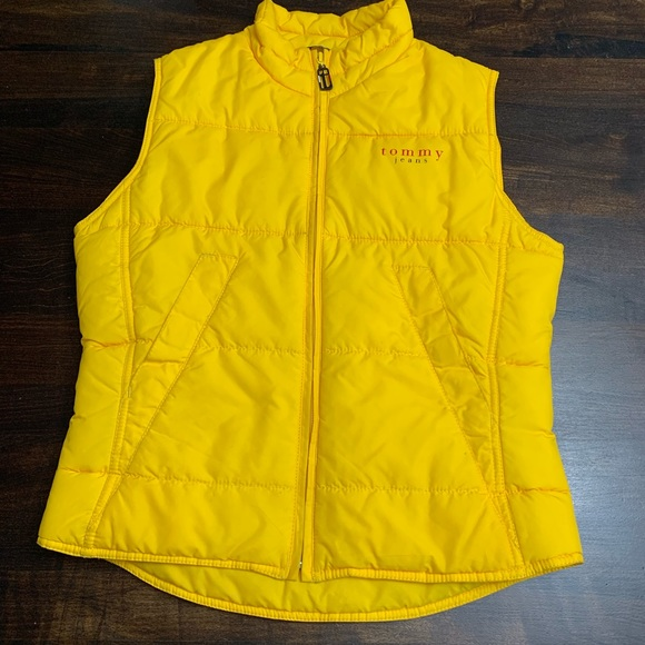51139a20f Vintage Tommy Hilfiger Yellow Puffer Vest